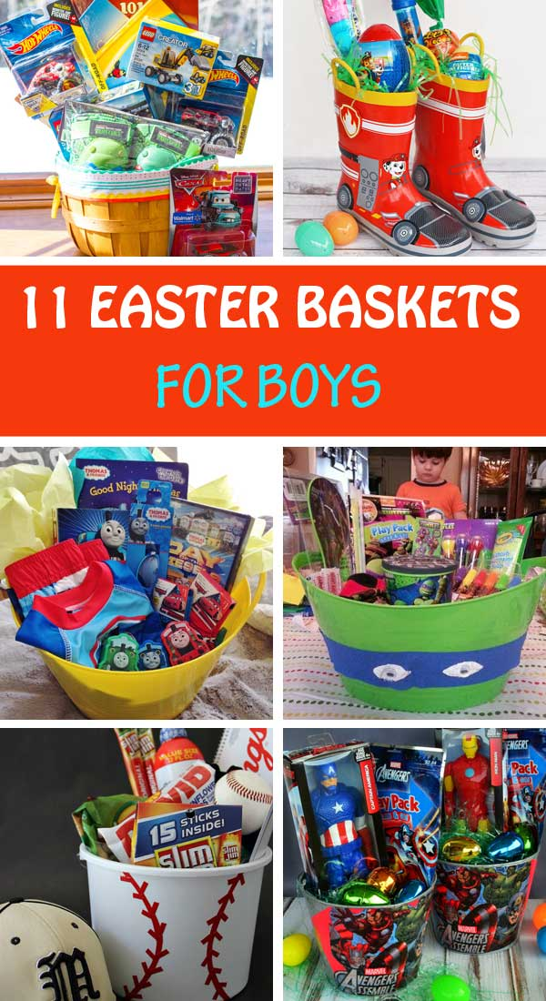 11 homemade easter basket ideas for boys non toy gifts 11 diy easter basket ideas for boys turtle ninja superheros thomas cars negle Gallery