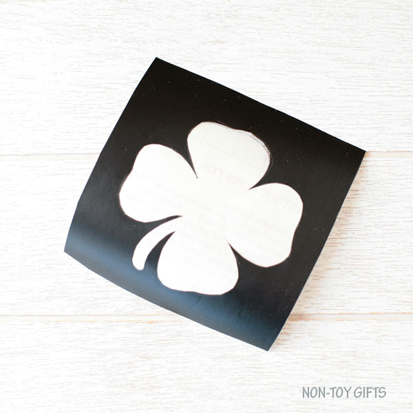 Shamrock on contact paper