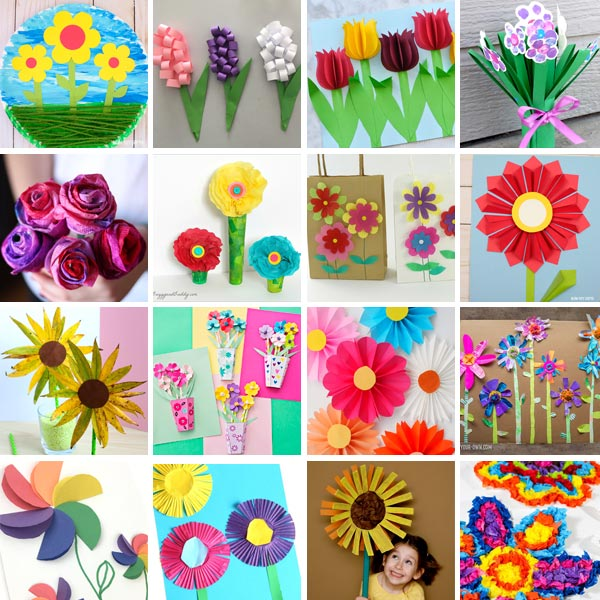 Flower crafts for kids 1