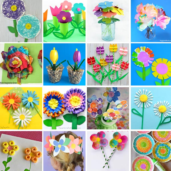 Flower crafts for kids 2
