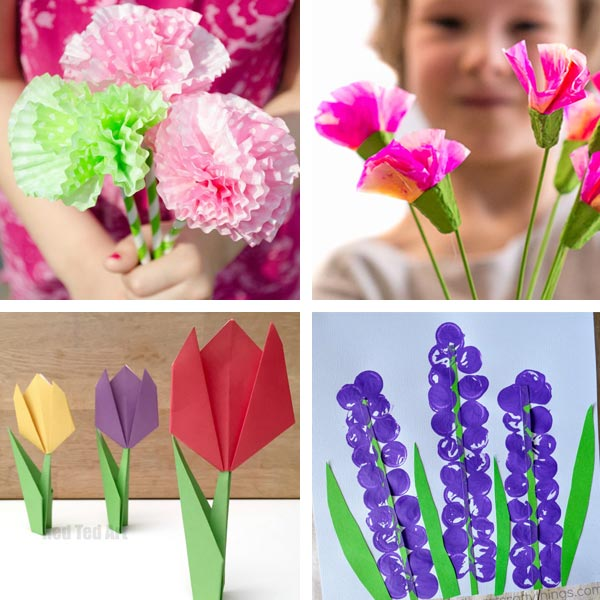 Flower crafts for kids 4