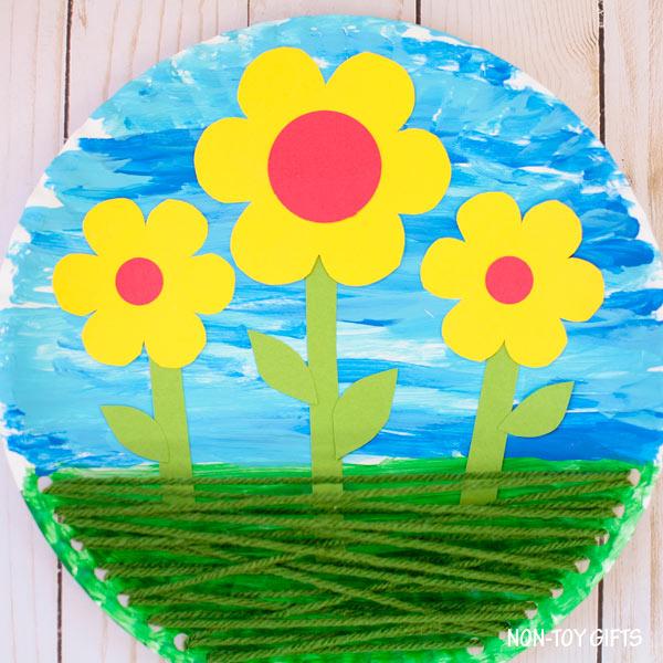Flowers In The Garden Craft For Kids Spring Craft Idea