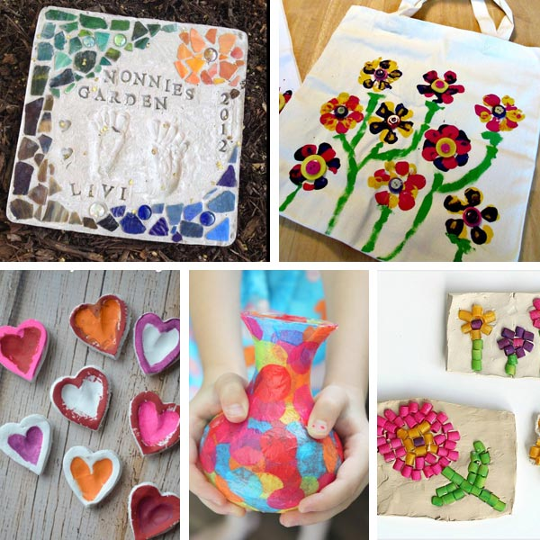Mother's Day grandma gifts kids can make