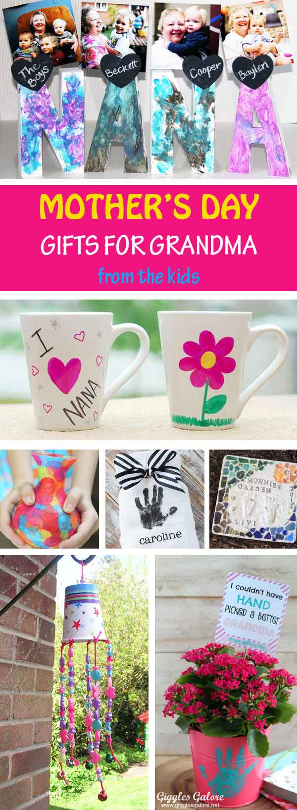 Mother's Day gifts for grandma from kids