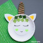 Paper plate St Patricks Day unicorn craft