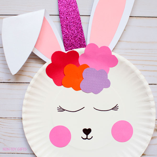 Paper plate bunny unicorn Easter craft