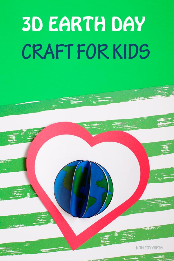 3D Earth craft for kids to celebrate Earth Day