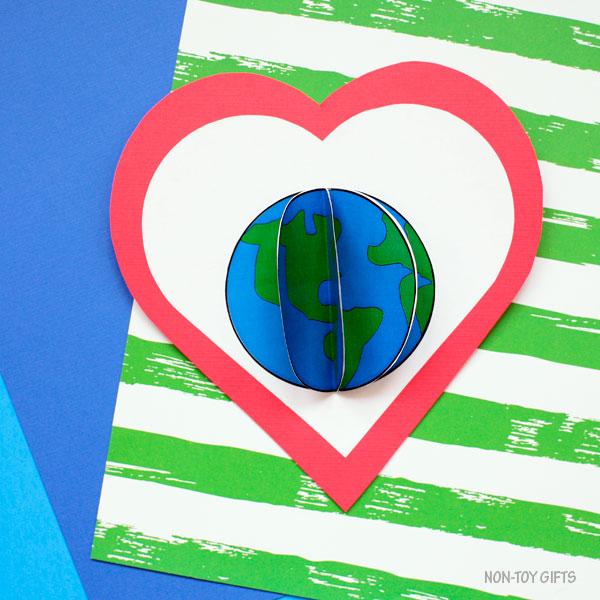3D Earth craft for preschoolers