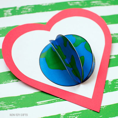 3D Earth craft for kids – Earth Day craft