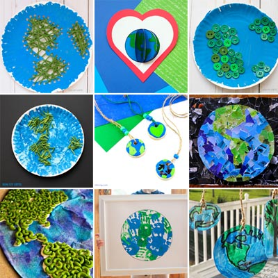 30+ Beautiful Earth Day crafts for kids