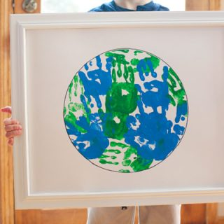 Handprint Earth Day art project