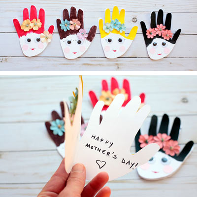 Mother's Day handprint card for mom