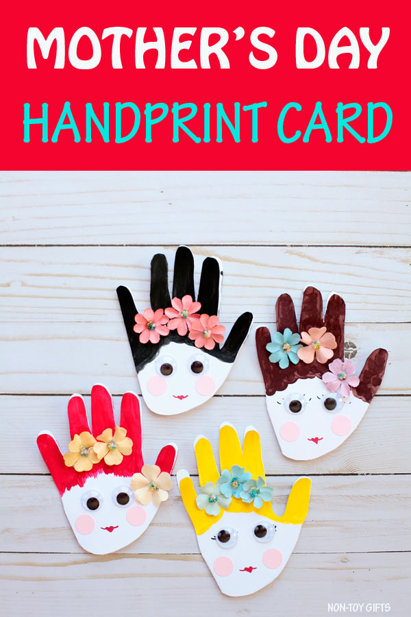 Mother's Day handprint card for kids to make