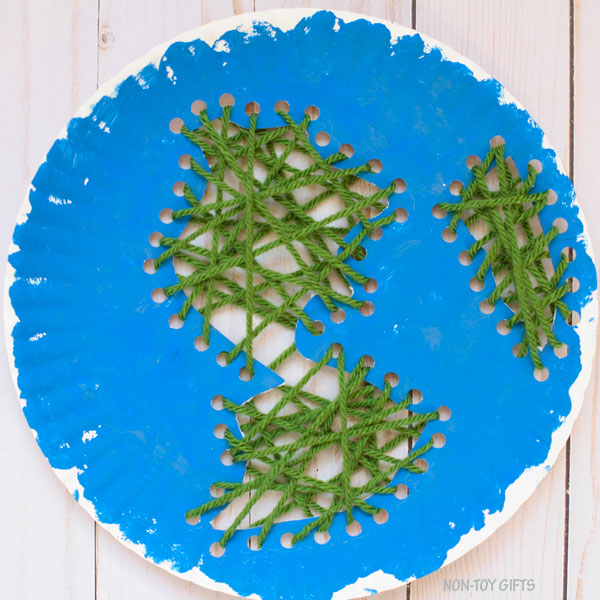 Paper plate Earth craft for Earth Day