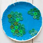 Button Earth craft for preschoolers