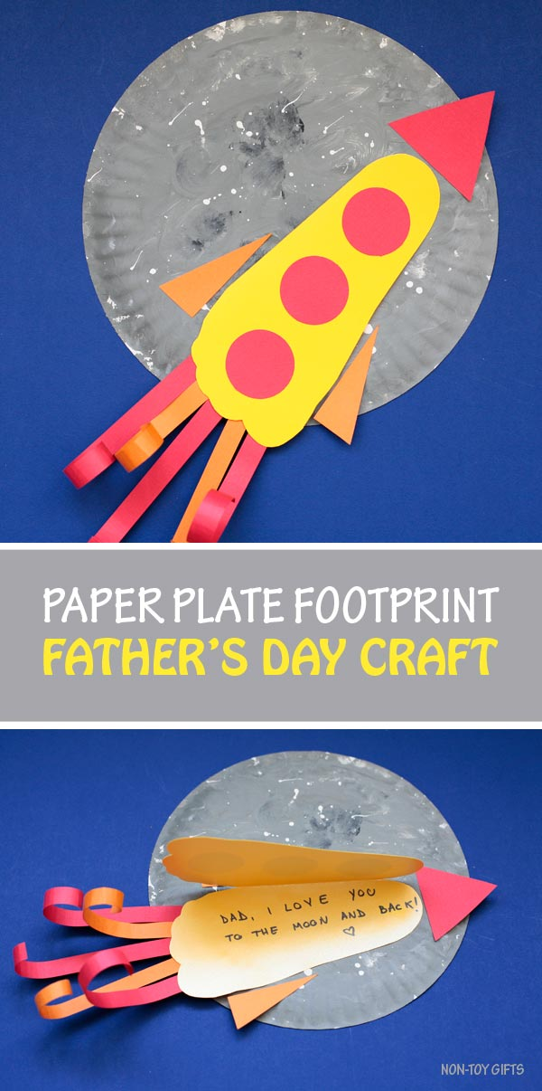 Paper Plate Footprint Father S Day Craft