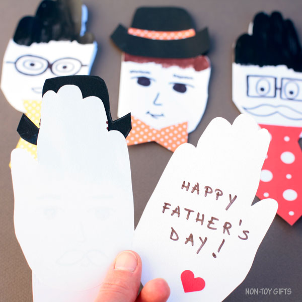 Father's Day handprint card for dad