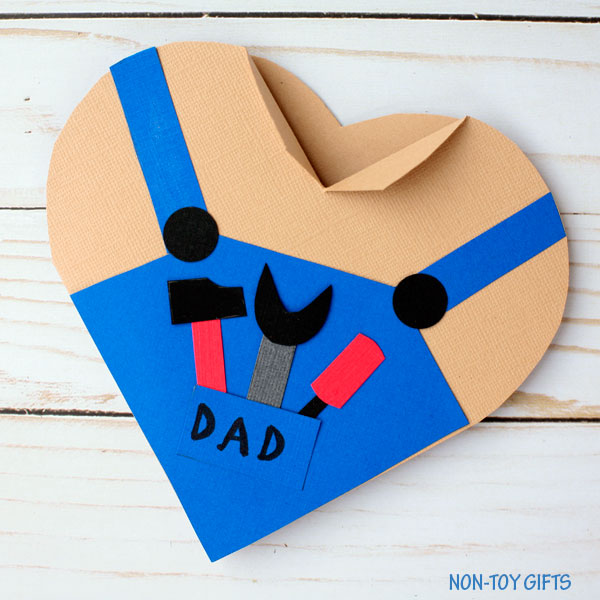 Easy Father's Day card for kids to make
