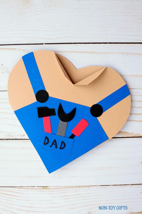 Handy dad heart card