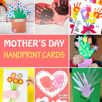 15 Mother's Day handprint cards for mom and grandma