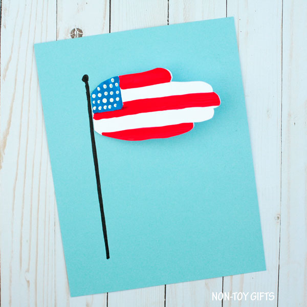 Handprint flag craft for kids