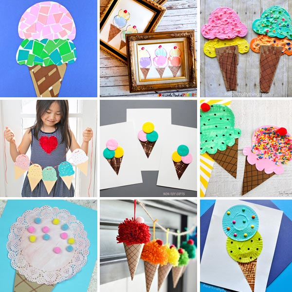 Ice cream crafts for kids to make this summer