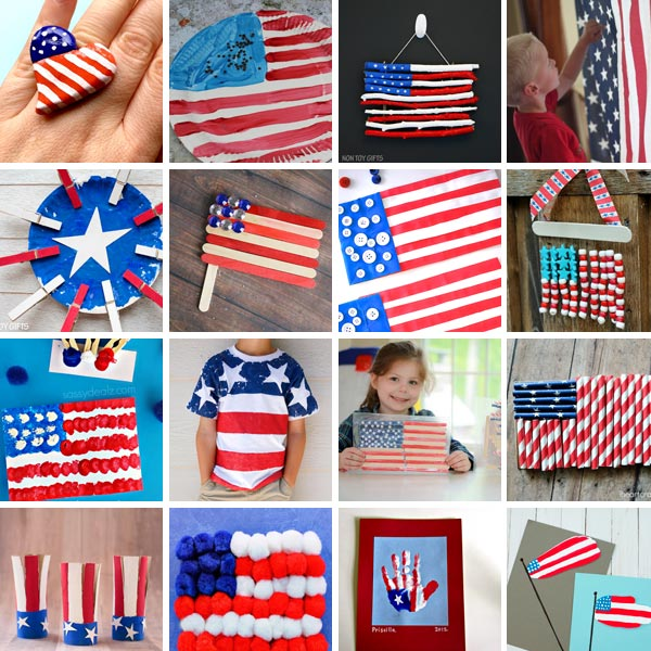 25 Flag crafts for kids to make this 4th of July