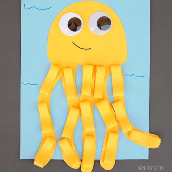 Yellow paper jellyfish craft