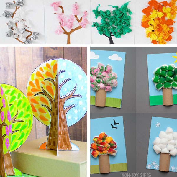 Four seasons arts and crafts for kids