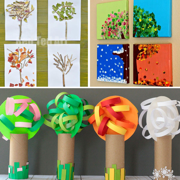 Four seasons arts and crafts for kindergartners