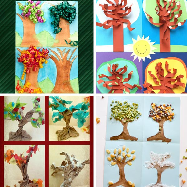 Four season tree crafts for kids