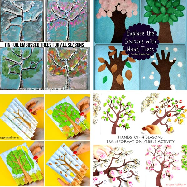 Four season tree crafts for preschoolers