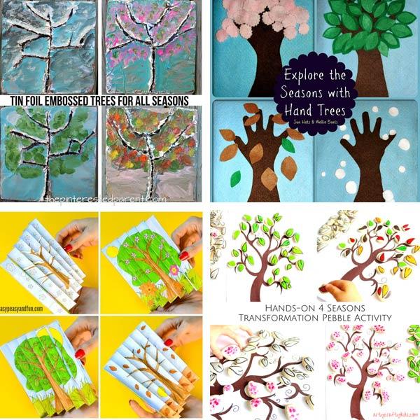Four season tree crafts for preschoolers
