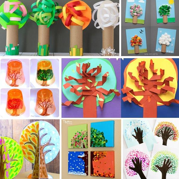 Four season tree crafts