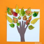 Leaf and handprint fall tree craft