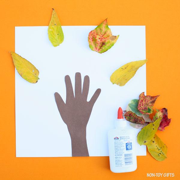 Glued leaves