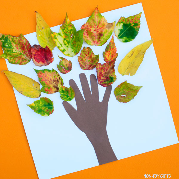 Simple fall tree craft for toddlers