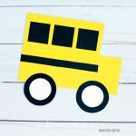 School bus shape card