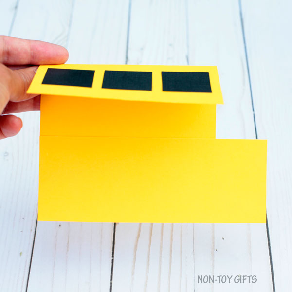 School bus shape card 3