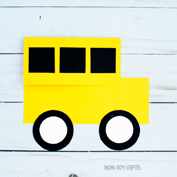 School bus shape card 5