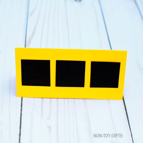 School bus shape card 2
