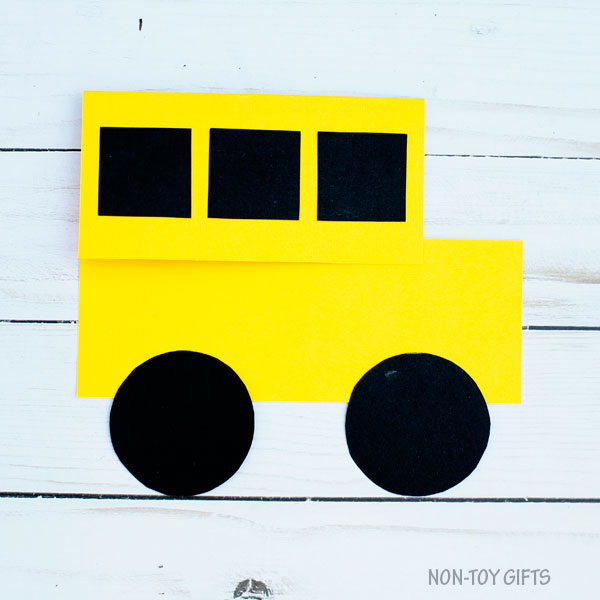 School bus shape card 4