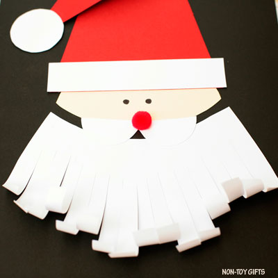 Easy Santa craft with template