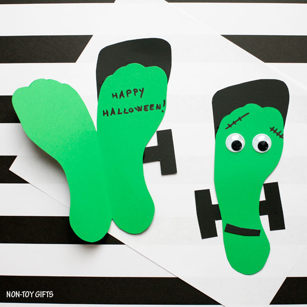 Easy Halloween Frankenstein craft for kids