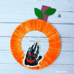 Handprint pumpkin craft