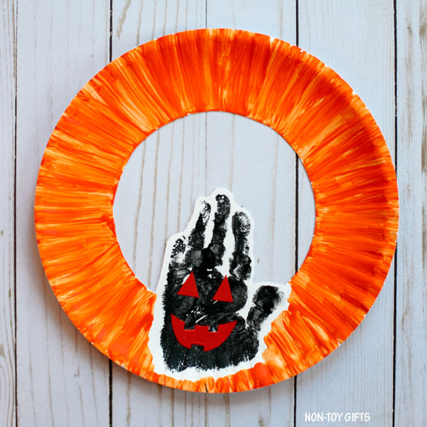 Handprint Jack'O'Lantern