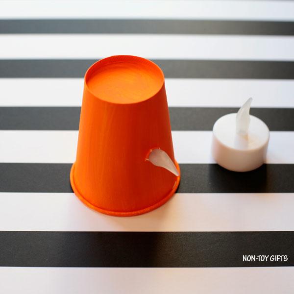 Tea light candle nose