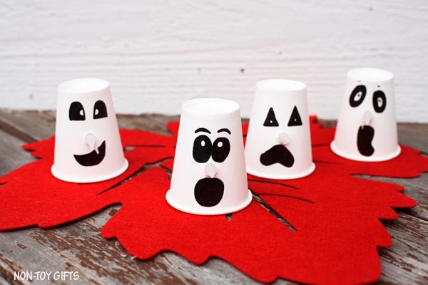 Paper cup ghosts