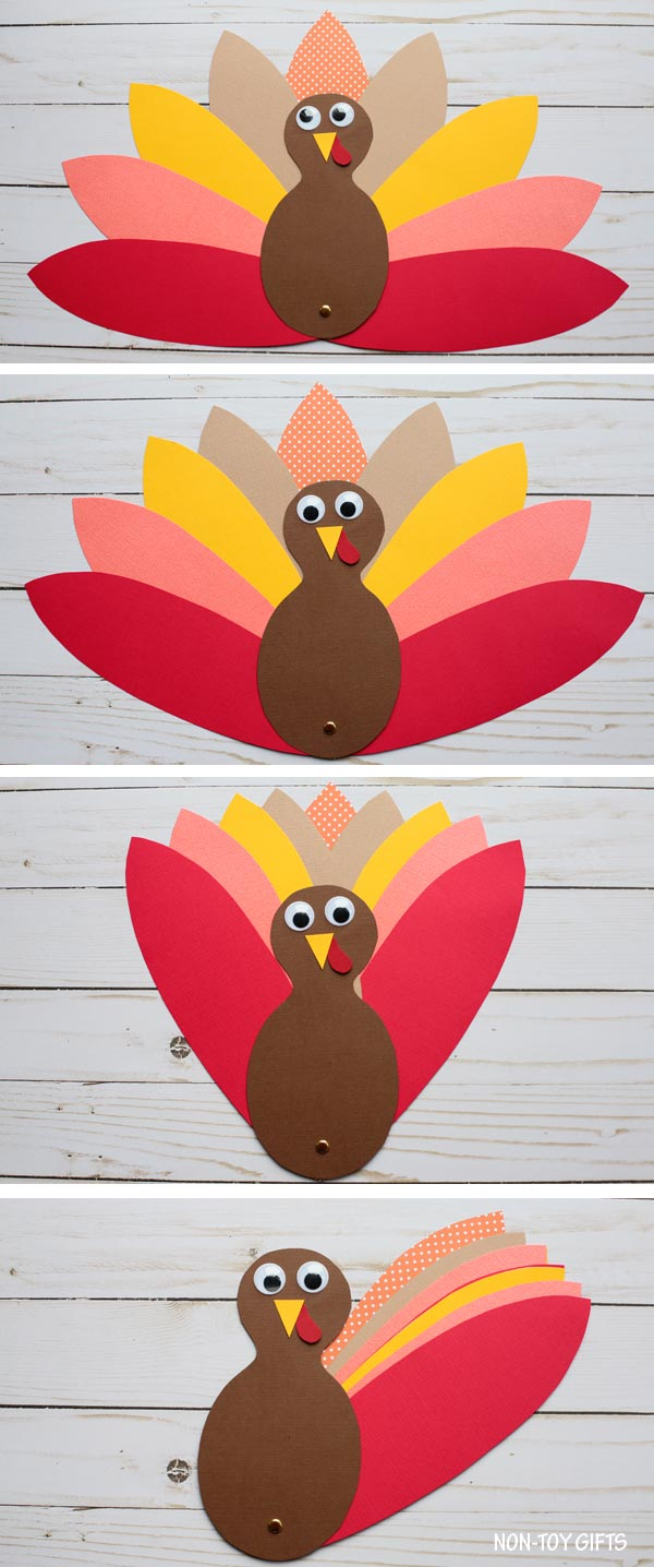 Paper turkey craft for kids to make for Thanksgiving #turkey #Thanksgiving