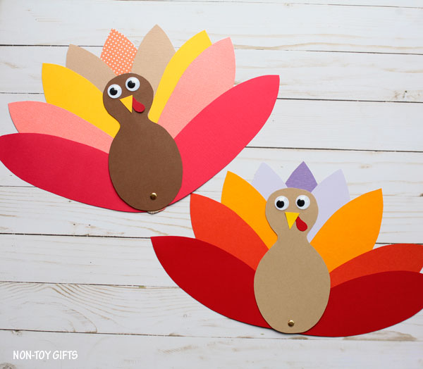 Easy Thanksgiving turkey craft for kids